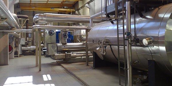 Industrie Kühlwasser Druckluft